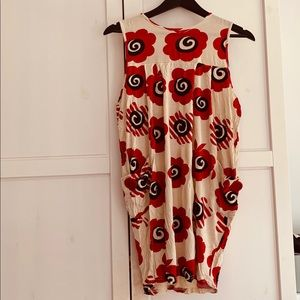 Fun loud graphic flower dress with pockets